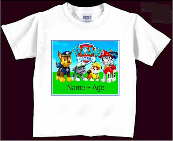 Paw Patrol Birthday Shirt Custom T Shirts
