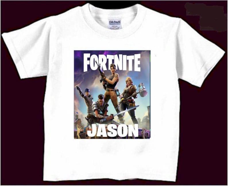 Fortnite Birthday Shirt Custom T Boys Fortnight Shirts