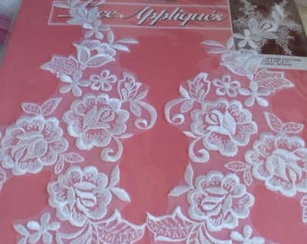 Applique #3  - lace  floral spray applique with Free Shipping