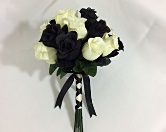 Black and Ivory Bridal Bouquet