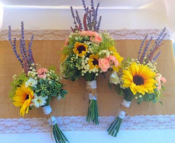 Wildblumen Brautstrauss Wildblumen Hochzeit Sonnenblumen Etsy