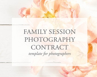 family photography contract photography legal agreement legal forms for photographers photography templates photography contract