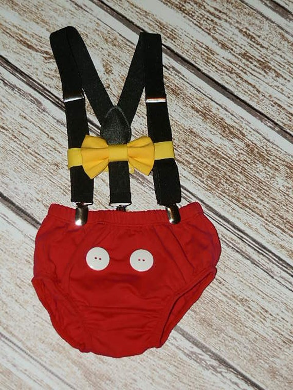 Mickey Mouse Birthday Outfit First Birthday Cake Smash Etsy