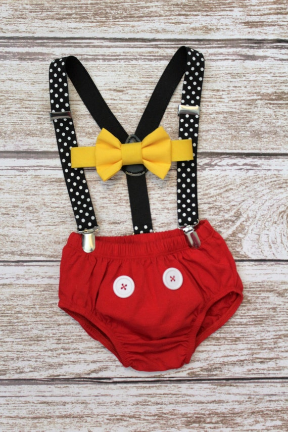 Mickey Mouse Birthday Outfit Cake Smash