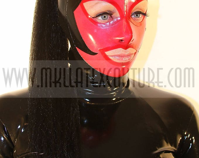 The Paris Latex Hood with Ponytail