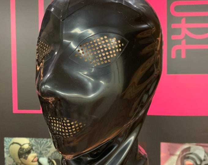 The Kink Latex Hood with perforated eyes and mouth