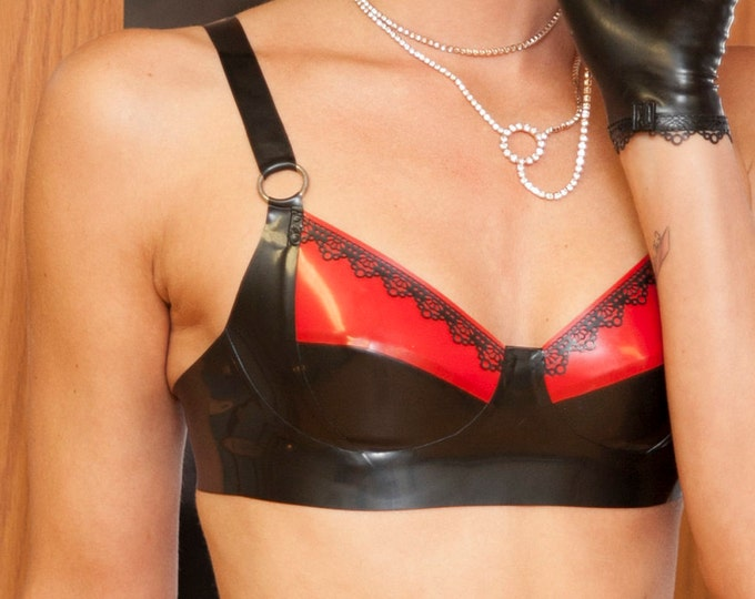 Ann Latex Lace Bra