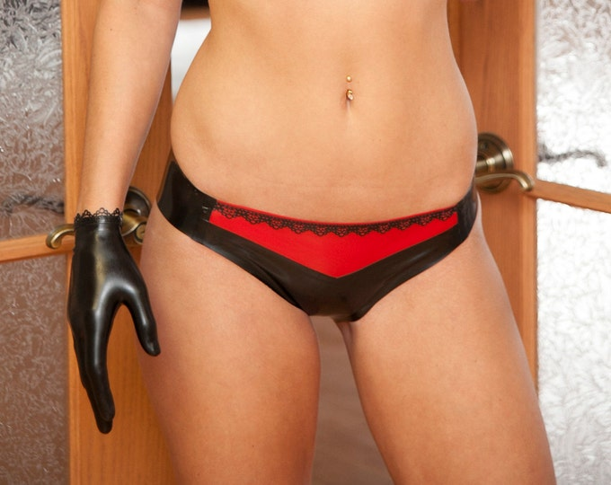 Ann Lace Bikini Latex Panties