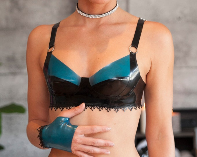Marie Latex Lace Bra