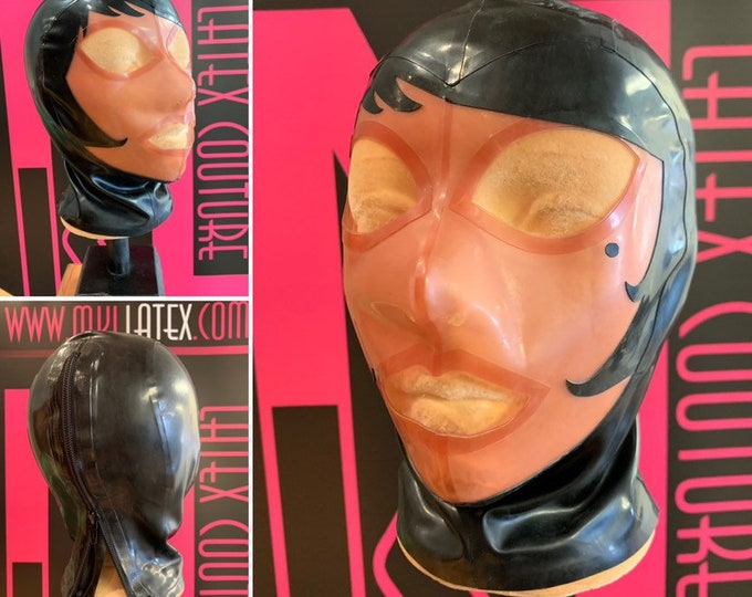 Size Small Paris Latex Hood READY TO SHIP