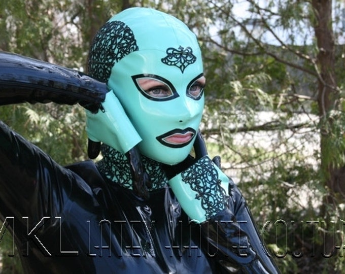 Murky Lace Latex Hood
