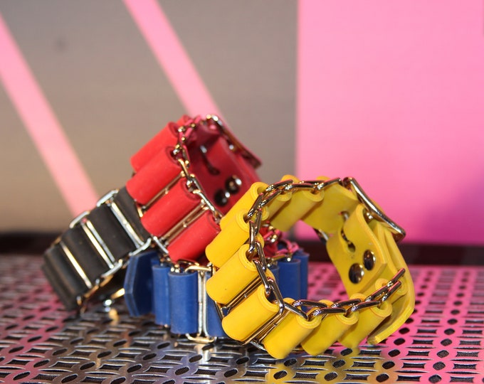 """Latex Bracer 1"""" with roller Buckle"""