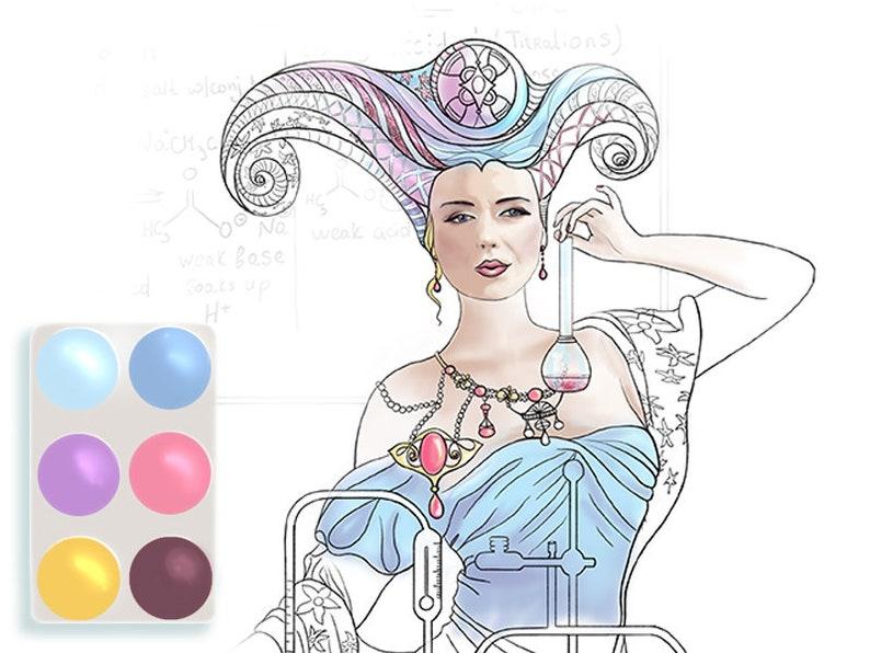 Female fantasy adult art