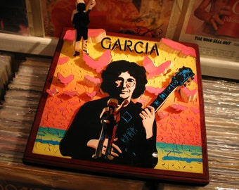 Compliments, Jerry Garcia, album cover, 'Life Puzzle' #3D #Custom #Wood #Hand Crafted #Made in UK #Bespoke #Personalized #Three Dimensional