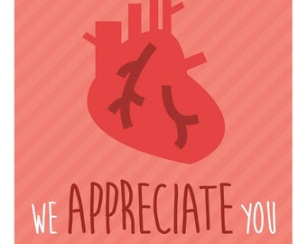 Nurse thank you card set of 4 download and print nurse etsy nurse week appreciation mini card printable download i aorta tell you how much we appreciate you great card for nurses m4hsunfo