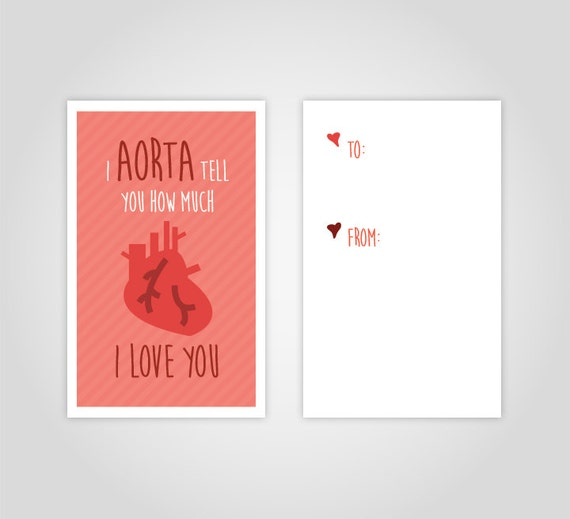 funny medical valentine s day card printable download etsy