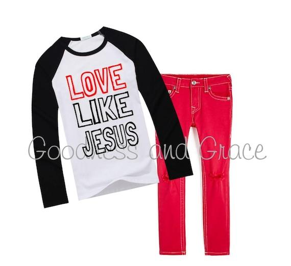 7b3bff680 Love Like Jesus Shirt Valentine Shirt for Boys Love   Etsy