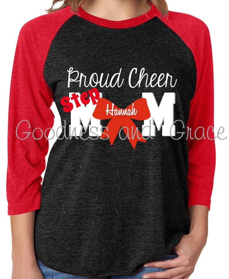 f766129b01 Proud Cheer Mom OR Stepmom Shirt Cheer Mom Monogram Cheer