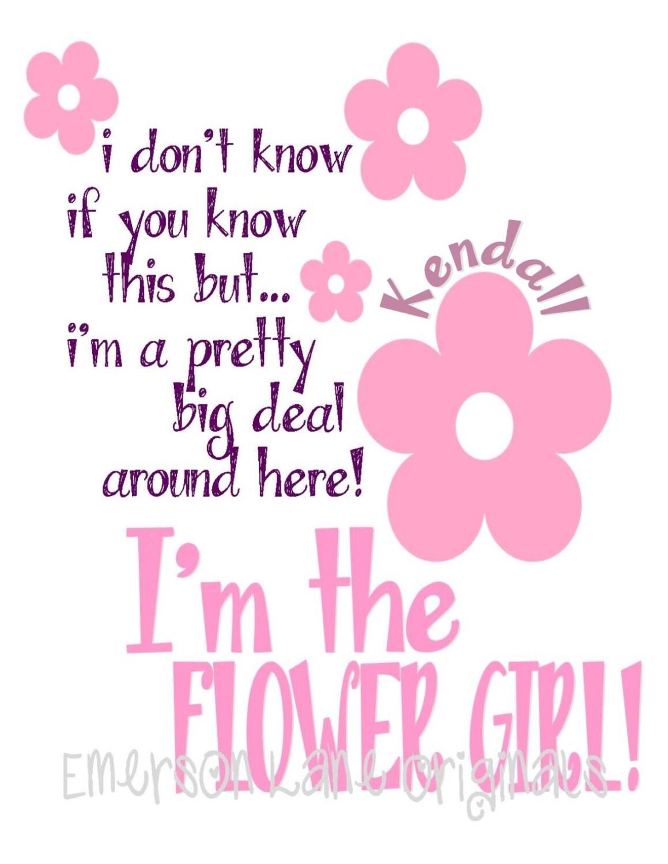 Rehearsal Gift for Your Flower Girl Shirt Monogrammed | Etsy
