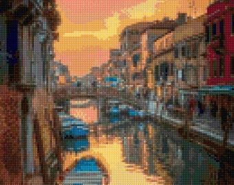 Venice Sunset Cross Stitch pattern PDF - Instant Download!