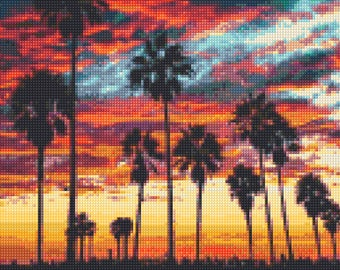 Tropical Ocean Sunset No. 2 Cross Stitch pattern PDF - Instant Download!