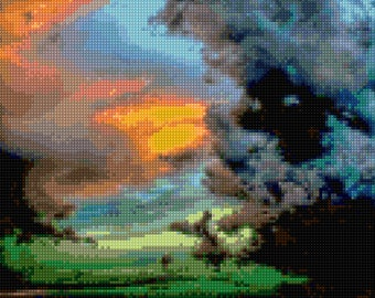 Dramatic Cloud Formation Cross Stitch pattern PDF - Instant Download!