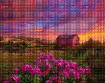 Sunset on the Moors Cross Stitch pattern PDF - Instant Download!