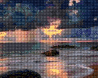 Ocean Storm Cross Stitch pattern PDF - Instant Download!
