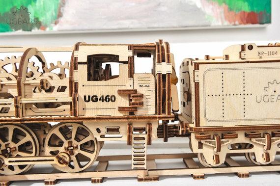 Diy Wood Train Model Kit 3d Wooden Laser Cut Puzzle Steam Train Decor Gift