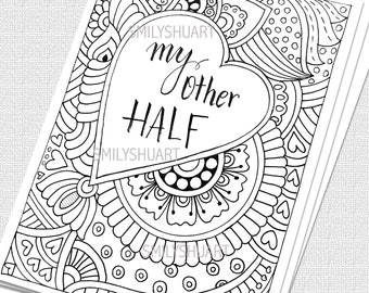 Printable Coloring Pages By Smilyshuart On Etsy