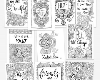 picture regarding Printable Quotes to Color known as Solutions comparable toward SALE! Printable Grownup Coloring Reserve, 10