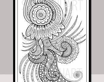 5x7 printable mandala stickers henna design coloring stickers etsy