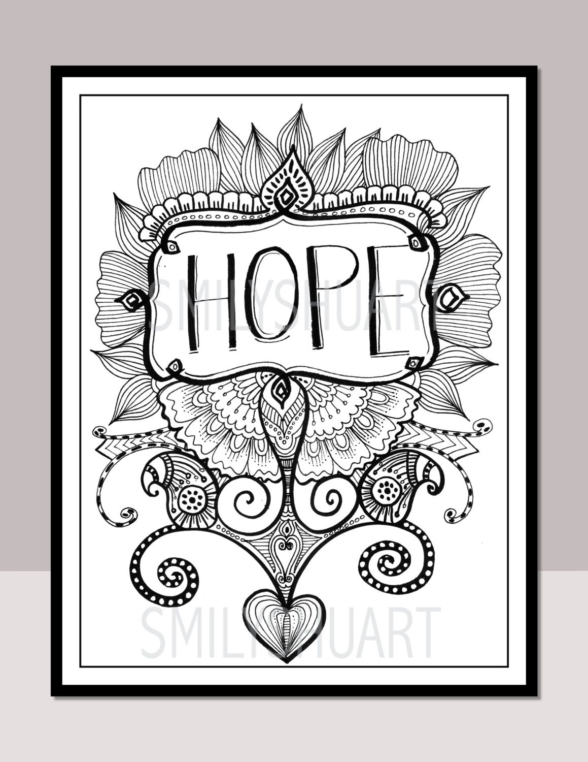 hope printable motivational quotes christmas quotes etsy. Black Bedroom Furniture Sets. Home Design Ideas