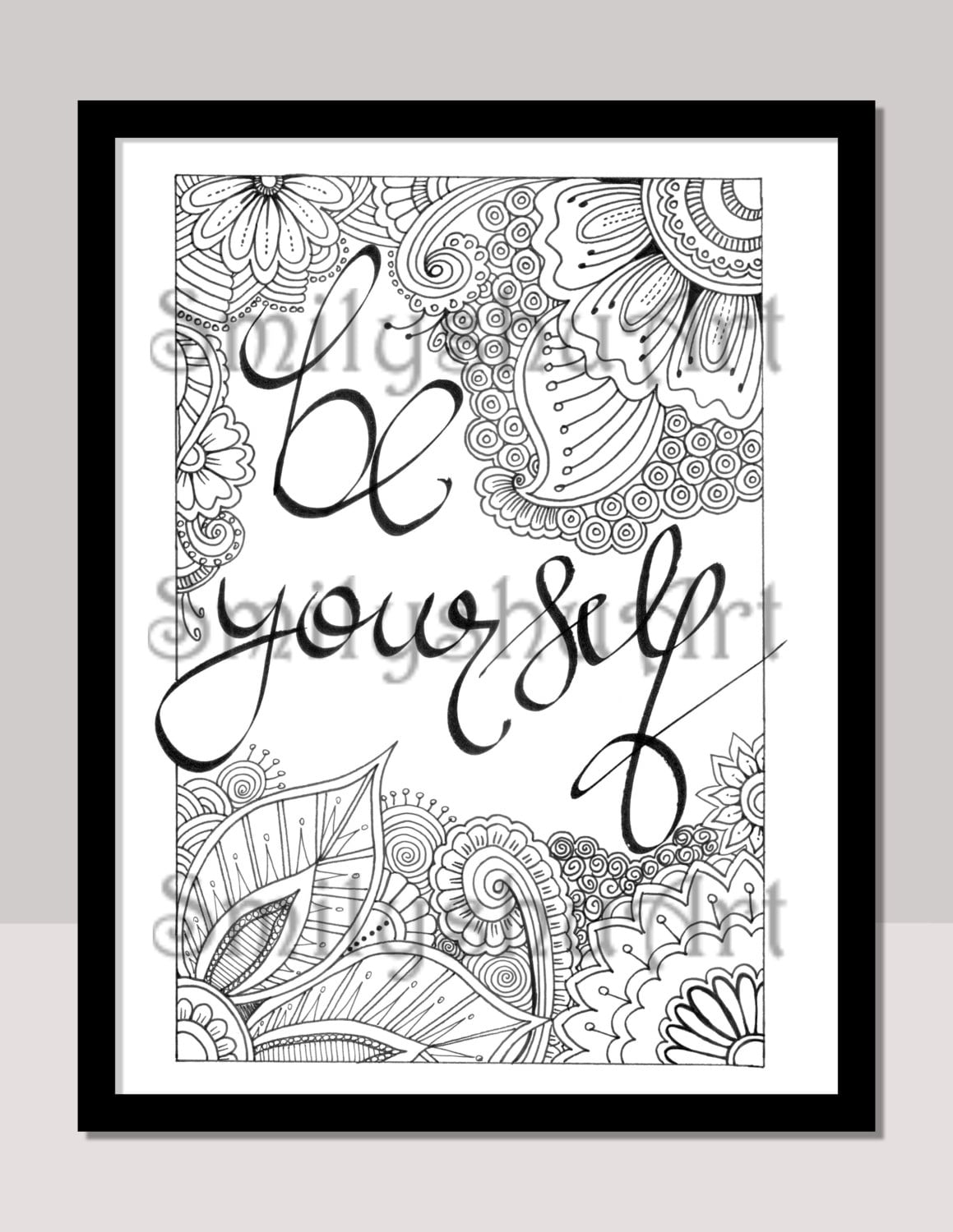 38104500fee9 Be Yourself Instant Download Print Color Frame Gift Lift
