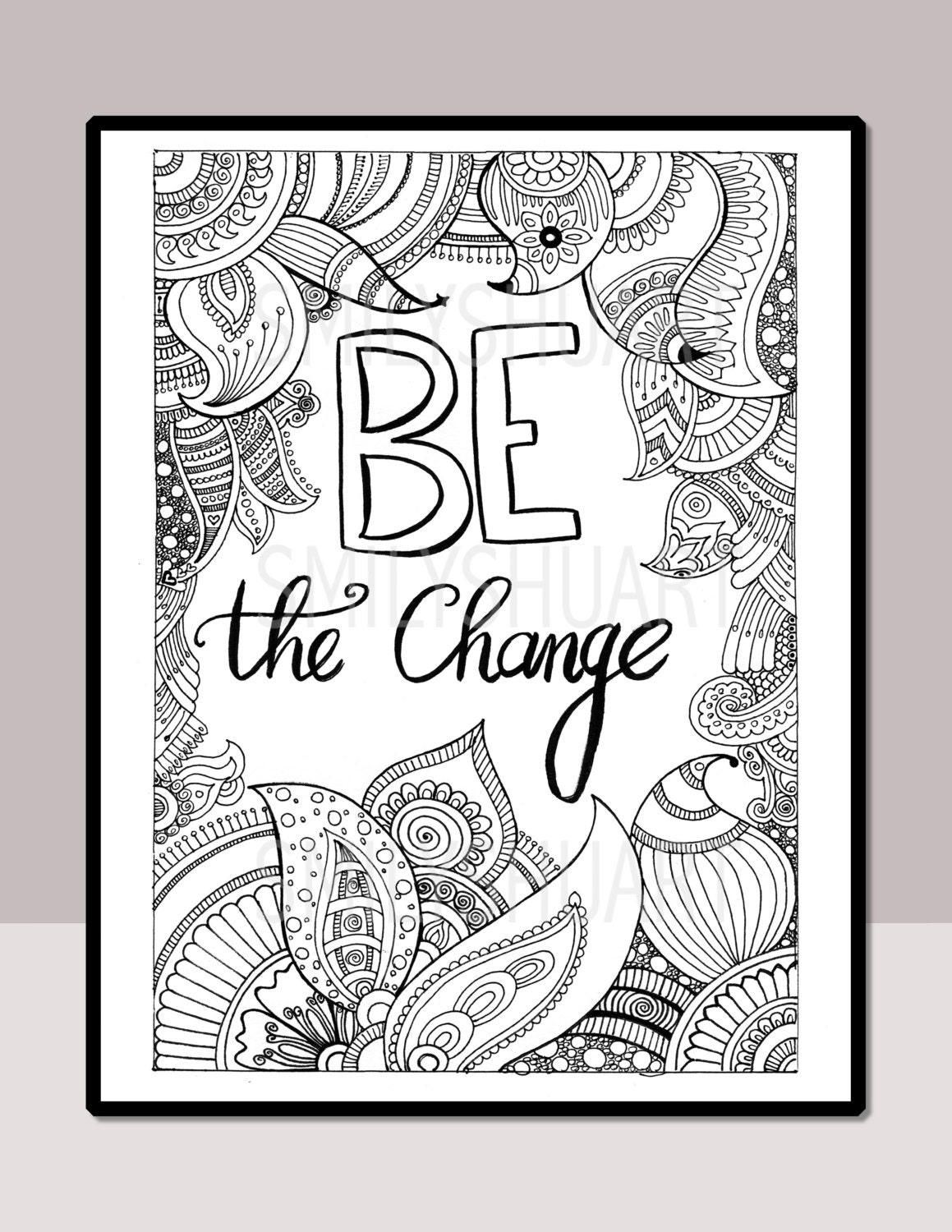 Be The Change Instant Download Printable Motivational | Etsy