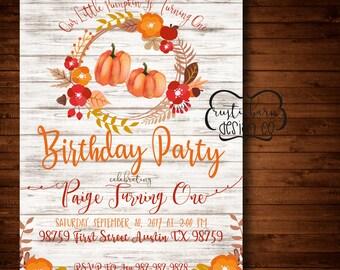 Rustic Vintage Farmhouse Birthday Party/Baby Shower Invitation-5x7 Custom Invitation- Digital Download/PRINTABLE