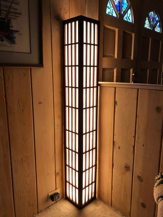 Shoji Corner Floor Lamp, Corner Floor Lamp With Shelves Uk