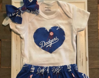5f28dfdce19 LA Dodgers Onesie and Matching Skirt