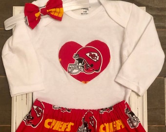 low priced 91df3 12207 Chiefs baby   Etsy