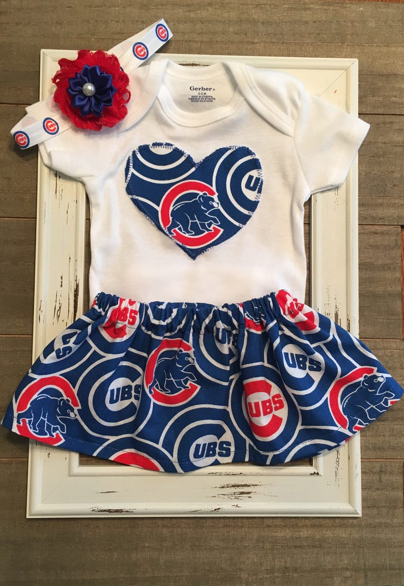 ac6cdd9970f Chicago Cubs Outfit Chicago Cubs Baby Skirt Chicago Cubs | Etsy