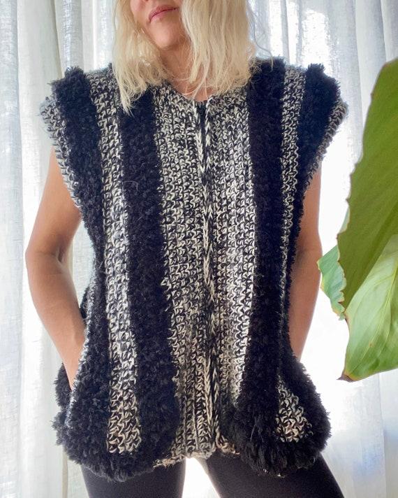 VINTAGE 1980's Fun Fur Vest