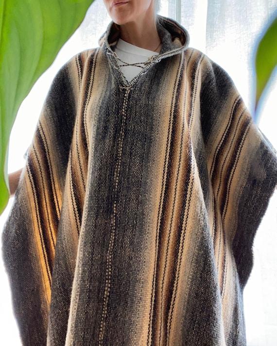 Vintage 1970's Handmade Wool Poncho