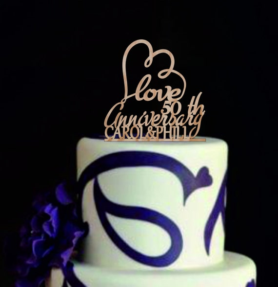 Alles Gute Zum Jubilaum Hochzeit Kuchen Topper Einzigartige Etsy