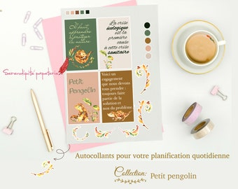 Petit Pengolin Collection - Stickers for your daily planning