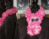 Neck Ruffle Scarf inspired by Sakura / HYK