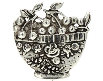 Mary Engelbreit Sterling Bowl Of Cherries Pin