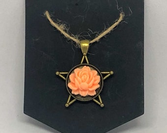Brass Star Flower Pendant