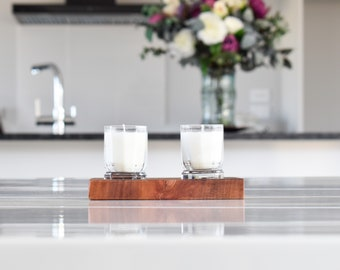 Limited Editon - Fresh Coffee Glass Candles with Wooden Base