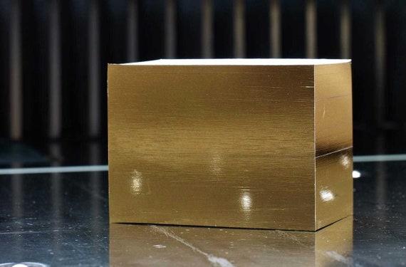 Visitenkarten Neutral Gold Folienschnitt 50 Stück