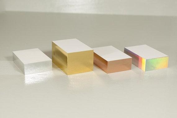 Visitenkarten Diffrakt Folienschnitt 50 Stück